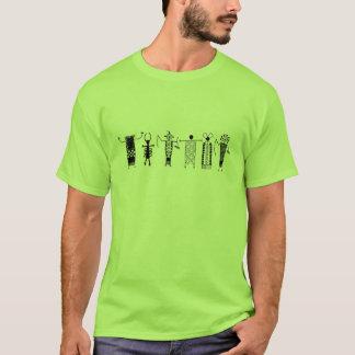 ヒエログリフの洞窟のスケッチの人のTシャツ Tシャツ