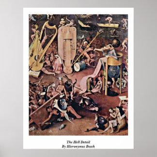 ヒエロニムス・ボス著地獄の詳細 ポスター