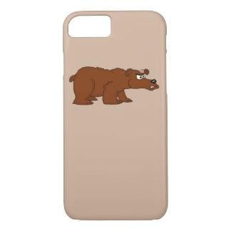 ヒグマのデザインのiPhoneのケースを怒って下さい iPhone 8/7ケース