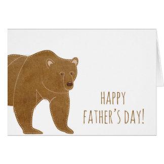 ヒグマの幸せな父の日 カード