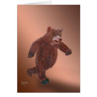 ヒグマの歩く カード