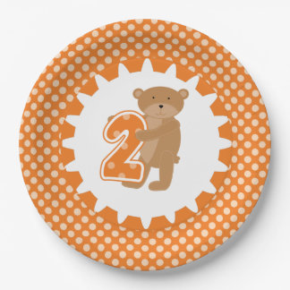ヒグマの第2誕生日の紙皿 ペーパープレート
