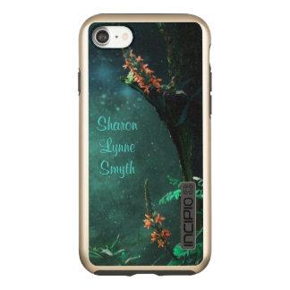 ヒスイの月光の*Personalize*の妖精の花 Incipio DualPro Shine iPhone 7ケース