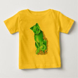 ヒスイ猫のTシャツ ベビーTシャツ