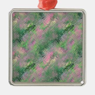 ヒスイ緑の水晶ゲルパターン メタルオーナメント