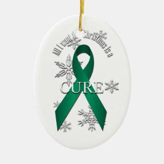 ヒスイ緑の認識度のクリスマスの治療のオーナメント セラミックオーナメント