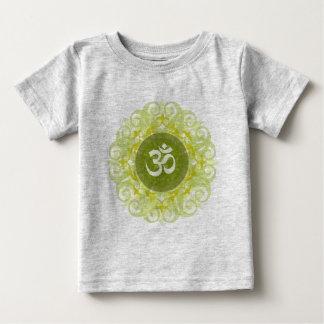 ヒスイOmの曼荼羅の乳児のTシャツ ベビーTシャツ