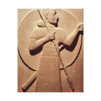 ヒッタイト人の戦士を描写するレリーフ、浮き彫り キャンバスプリント