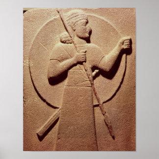 ヒッタイト人の戦士を描写するレリーフ、浮き彫り ポスター