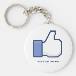ヒッチハイカーのFacebookの記号Keychain キーホルダー