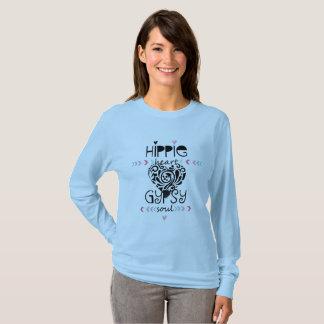 ヒッピーのハートのジプシーの精神 Tシャツ