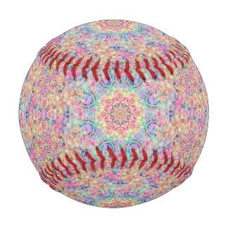 ヒッピーのヴィンテージの万華鏡のように千変万化するパターンの     野球 野球ボール