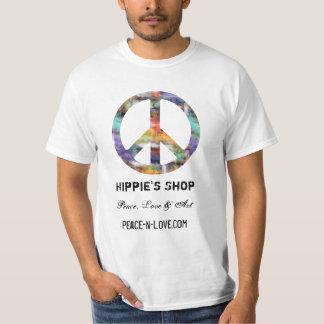 ヒッピーの店の昇進の価値ピースサイン Tシャツ
