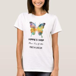 ヒッピーの店の昇進の価値蝶 Tシャツ
