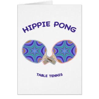 ヒッピーのPongの卓球 カード