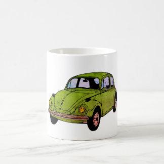 ヒッピー車のスケッチのマグ コーヒーマグカップ