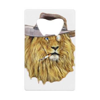 ヒップスターのおもしろいなライオン猫 クレジットカード 栓抜き