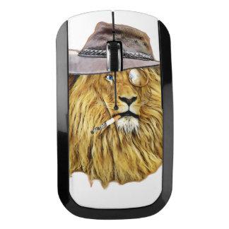 ヒップスターのおもしろいなライオン猫 ワイヤレスマウス