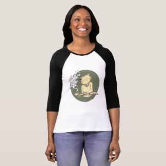 ヒップスターのカエルLatte Tシャツ