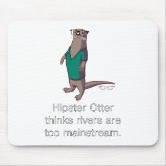ヒップスターのカワウソのマウスパッド マウスパッド
