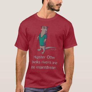 ヒップスターのカワウソのTシャツ Tシャツ