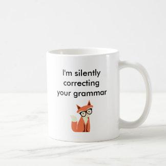 ヒップスターのキツネ文法 コーヒーマグカップ
