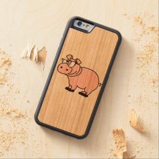 ヒップスターのクールな雌豚のコブタ CarvedチェリーiPhone 6バンパーケース
