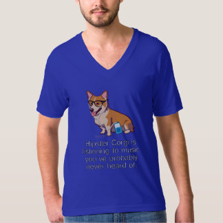 ヒップスターのコーギーのTシャツ Tシャツ