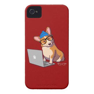 ヒップスターのコーギー2 Case-Mate iPhone 4 ケース