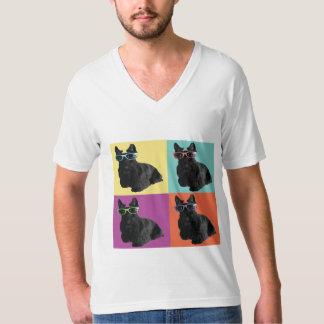 ヒップスターのスコッチテリアのTシャツ Tシャツ