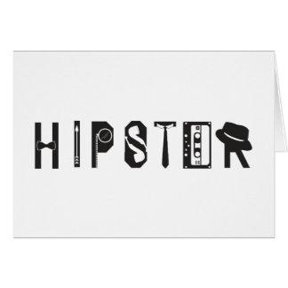ヒップスターのタイポグラフィのインディの都市カード カード