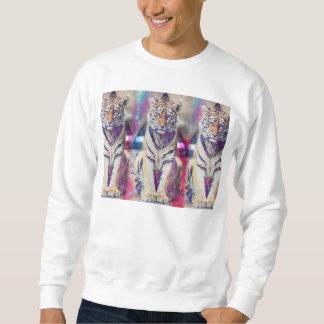 ヒップスターのトラ-トラの芸術-三角形のトラ-トラ スウェットシャツ