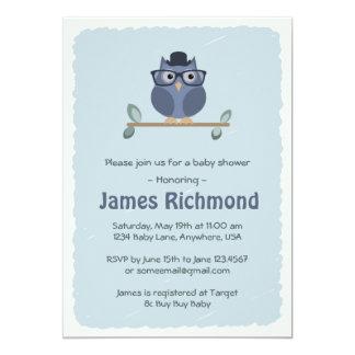 ヒップスターのフクロウのベビーシャワーの招待状 カード