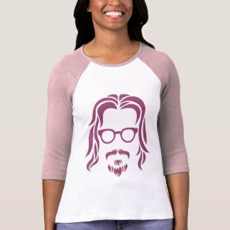 ヒップスターのポートレート Tシャツ