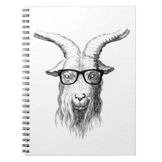 ヒップスターのヤギ ノートブック