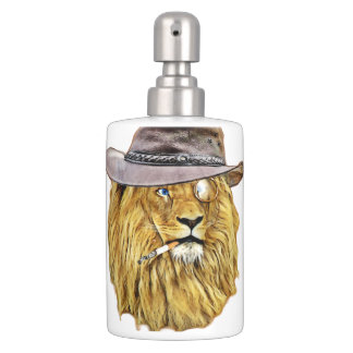 ヒップスターのライオン動物 バスセット