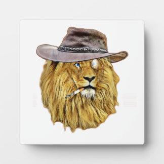 ヒップスターのライオン動物 フォトプラーク