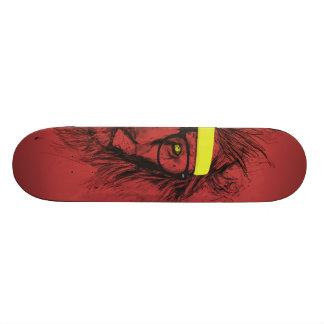 ヒップスターのライオン(赤い) スケートボード