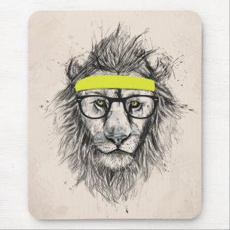 ヒップスターのライオン(軽い背景) マウスパッド