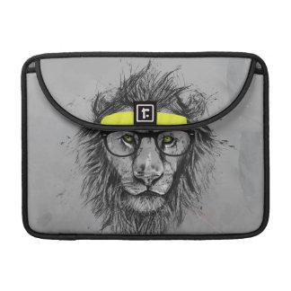 ヒップスターのライオン MacBooks 用スリーブ