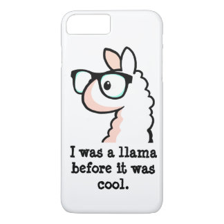 ヒップスターのラマ iPhone 7 PLUSケース