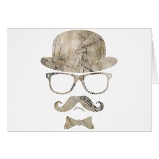 ヒップスターの口ひげのダービーガラス3 カード