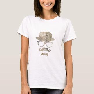 ヒップスターの口ひげのダービーガラス3 Tシャツ