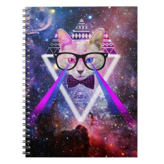 ヒップスターの銀河系猫 ノートブック