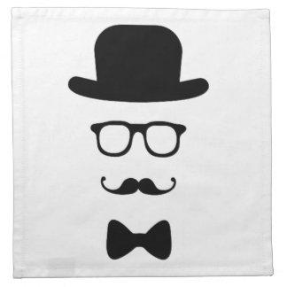 ヒップスターの顔布のナプキン ナプキンクロス