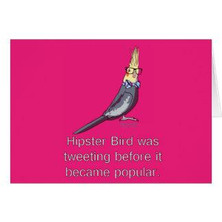 ヒップスターの鳥のメッセージカード カード