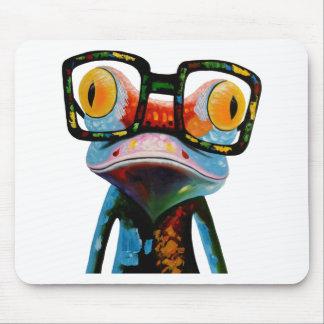 ヒップスターガラスのカエル マウスパッド