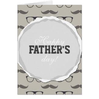ヒップスターガラスの髭の父の日カード カード