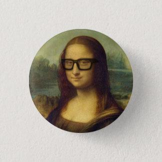 ヒップスターガラスDa Vinciのヒップスターモナ・リザ 3.2cm 丸型バッジ