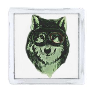 ヒップスター犬のスタイル シルバー ラペルピン